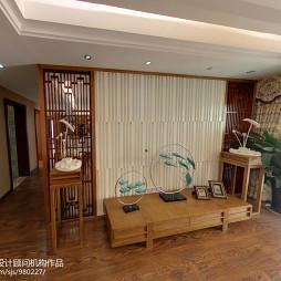中式新古典风格客厅背景墙装修效果图大全