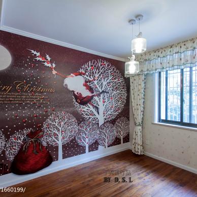 欧式儿童房背景墙装修效果图大全