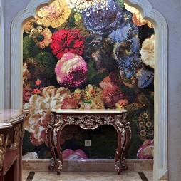 美式玄关墙画装修图片