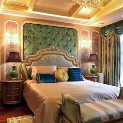 美式卧室背景墙装修图大全