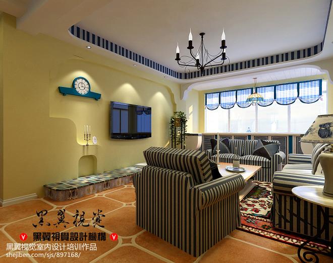 地中海风格高档家具装修效果图