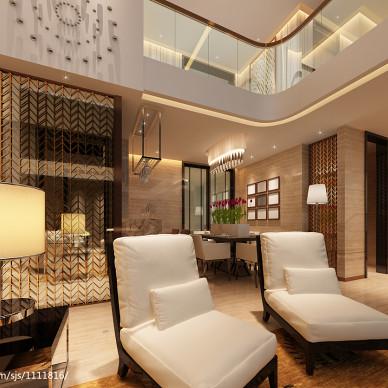 复式楼现代沙发装修图片