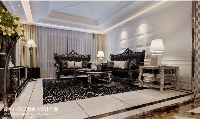 新古典二居室内地板砖装修图片