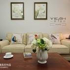 休闲美式风格客厅背景墙装修效果图
