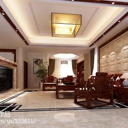 新中式胡桃木家具装修图片