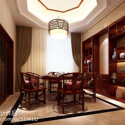 新中式红木餐桌装修效果图