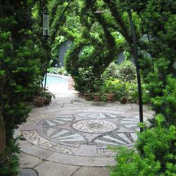 精美别墅花园景观设计效果图