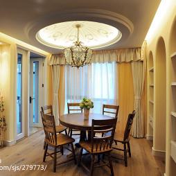 美式餐厅圆形吊顶设计