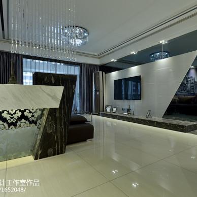 四居室现代风格客厅电视背景墙装修