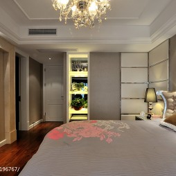 欧式风格三居室卧室衣柜装修图片