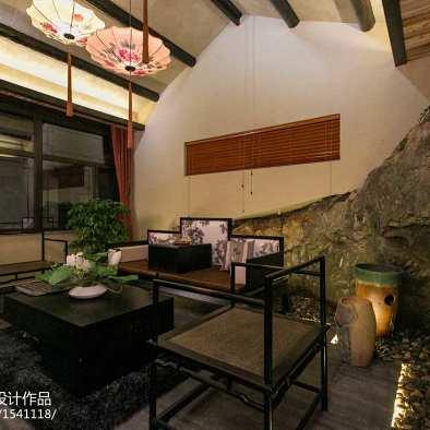 中式风格客厅背景墙装修效果图大全2017图片