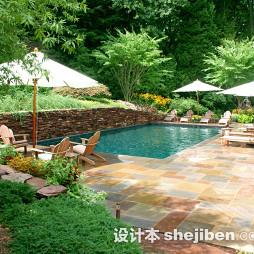 最新泳池砖效果图片