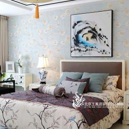新中式样板间卧室吊灯设计
