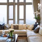 现代别墅豪宅客厅窗户装修图片