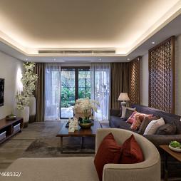 现代中式客厅装修图片