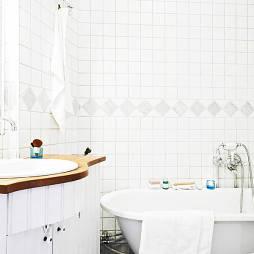 纯白卫生间设计