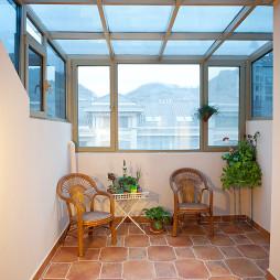 新中式混搭新古典阳台吊顶装修