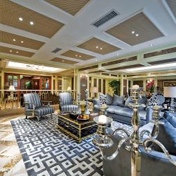欧式风格酒店别墅客厅吊顶设计