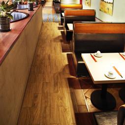 混搭风格中餐厅卡座装修效果图