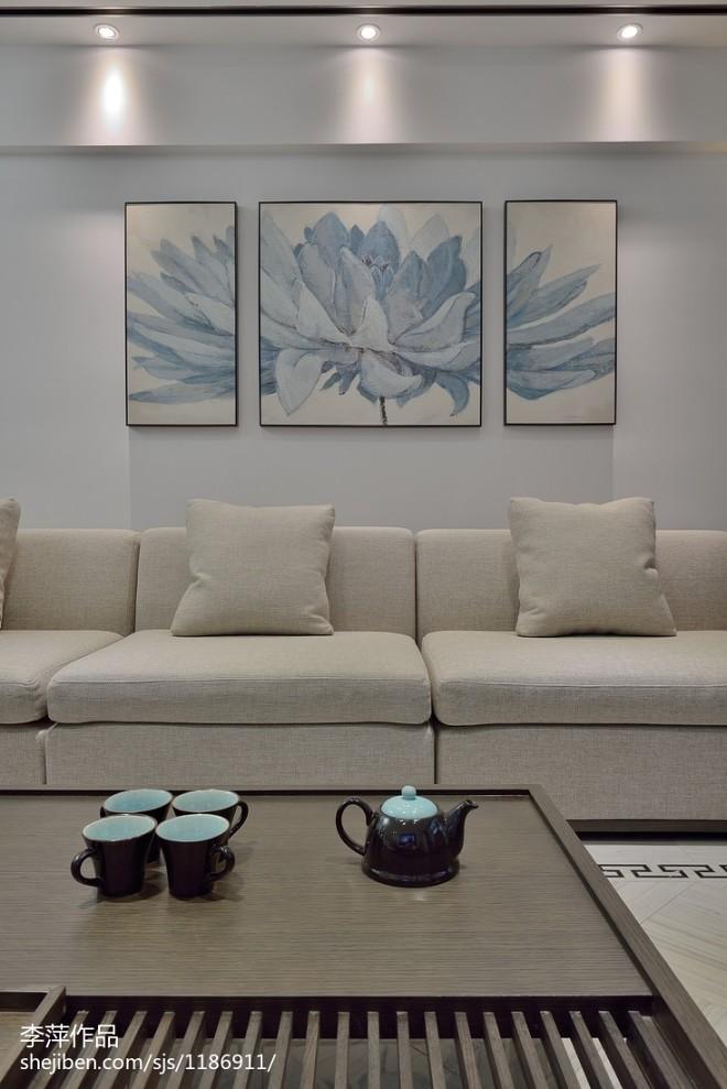 中式风格客厅背景墙装修图片