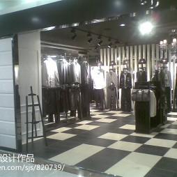 现代风格个性男装店面设计效果图大全