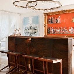 家用吧台带酒柜图