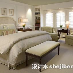 美式1.8的床图片