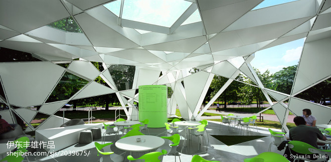 抽象画廊休闲区装修效果图