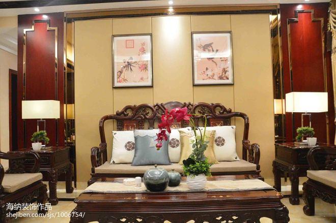 中式客厅桌椅效果图