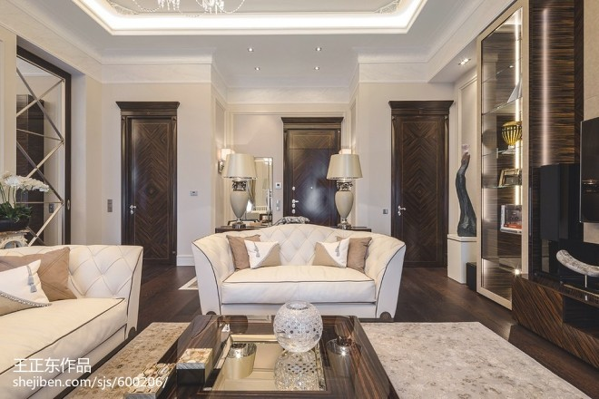 新古典风格家庭客厅装修效果图欣赏