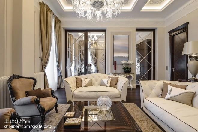 新古典风格家庭客厅装修图大全