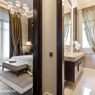 新古典风格卧室隔断效果图欣赏