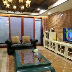 美式客厅背景墙全景图