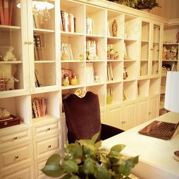 欧式风格书房书柜装修图片