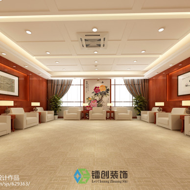 滨州市某企业接待室装饰设计方案_1541689