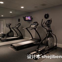 现代健身房装修效果图