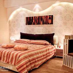 现代风格客厅卧室背景墙装修图