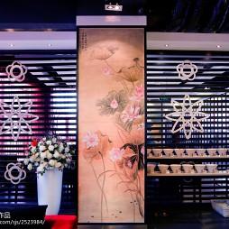 中式主题餐厅背景墙装修效果图