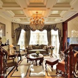 美式风格客厅吊顶设计图