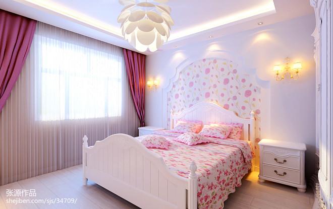 现代40平方小户型卧室飘窗装修图
