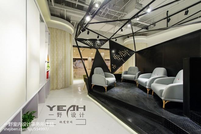 现代风格展览馆休闲区装修效果图