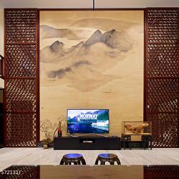 中式别墅客厅背景墙设计图