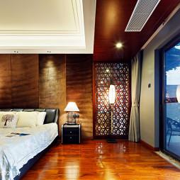 中式卧室阳台装修效果图
