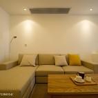 小户型混搭风格客厅背景墙装修效果图欣赏