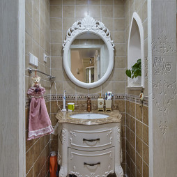 欧式卫生间古典浴柜设计