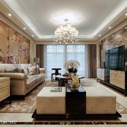 最新混搭风格客厅背景墙设计图片大全