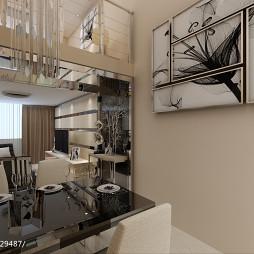 现代高级公寓客厅效果图