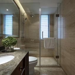 现代美式卫生间样板间装修图片