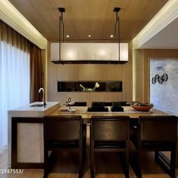 中式餐厅实木餐椅样板房图片