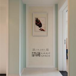 现代玄关墙画装修图片
